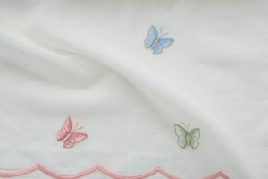 Ткань с вышитыми разноцветными бабочками арт. Butterfly