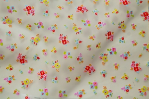 Тюль органза с маленькими, яркими цветами Jasmine