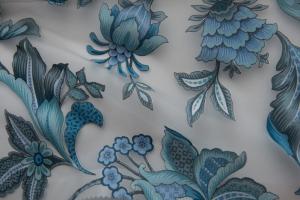 Тюль органза с синими цветами арт. Corfu col. 17