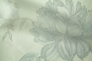 Тюль бело-голубой  Kiara 12