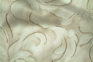 Тюль вуаль белая с рисунком Kiara 13