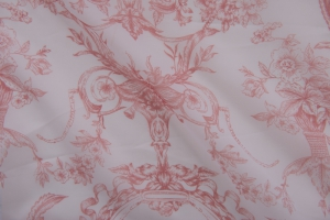 Тюль красно-белый арт. De Jouy col. 01