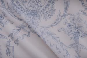 Тюль с голубым рисунком арт. De Jouy col. 17