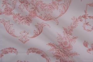 Тюль красно-белый арт. De Jouy col. 03