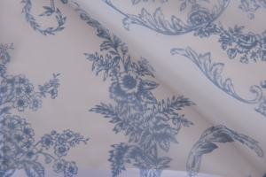Тюль бело-голубой арт. De Jouy col. 13