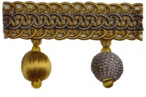 Бахрома для штор с вязанными шариками Granada