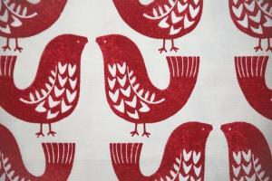 Ткань Scandi Birds col.Scarlet