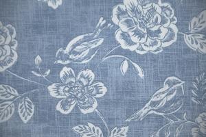 Ткань Bird Garden col. Denim