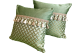 Декоративная подушка с бахромой и кистями