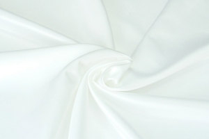 Белая атласная ткань Chance col. 01
