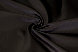 Черная атласная ткань Chance col. 35