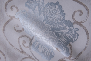 Ткань c бирюзовым цветком Aquamarine col. 01