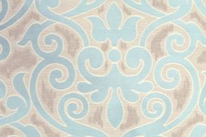 Ткань с бирюзовым арнаментом Aquamarine col. 14