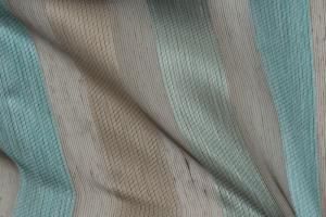 Тюль с серо-бирюзовой полосой Rondo col. 25