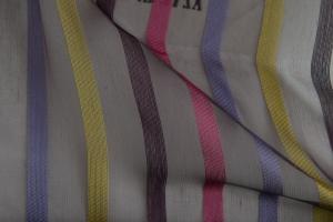 Ткань Azteca col. 01 Тюль с яркими разноцветными полосками