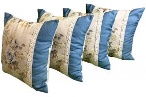 Комплект подушек Amelie с цветочным орнаментом и тесьмой