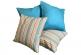 Комплект подушек с разноцветными полосками