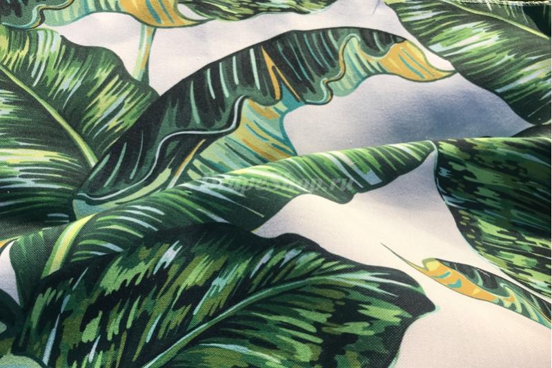 Ткань с крупными листьями