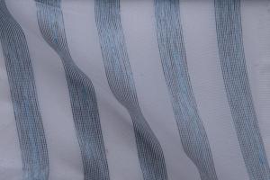 Тюль органза с серо-голубой полоской Calypso col. 01