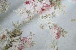 Льняная ткань с цветочным рисунком Amelie col. 05
