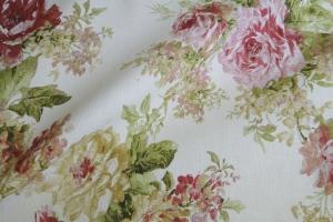 Льняная ткань с цветочным рисунком Amelie col. 02