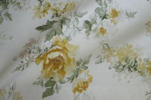 Льняная ткань с цветочным рисунком Amelie col. 01