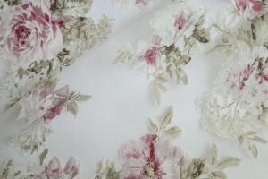 Тюль органза с цветочным рисунком  Isabelle col. 04