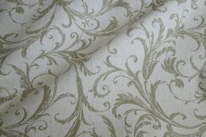 Ткань льняная с узором Rivoli col. 04