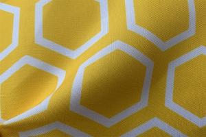 Ткань арт. 0100797 желтая с орнаментом соты