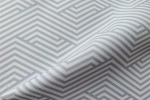 Ткань арт. 0101097 серая с орнаментом волна