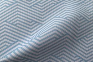 Ткань арт. 0101197 голубая с орнаментом волна