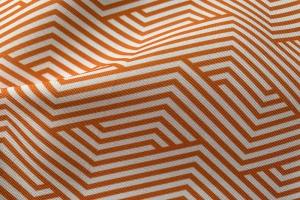 Ткань арт. 0101397 терракотовая с орнаментом волна