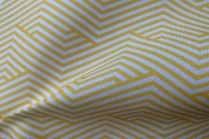 Ткань арт. 0101497 желтая с орнаментом волна