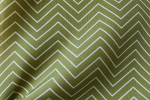 Ткань арт. 0101997 зеленая с орнаментом зигзаг