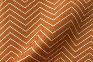 Ткань арт. 0102097 терракотовая с орнаментом зигзаг