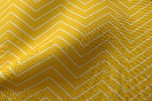 Ткань арт. 0102197 желтая с орнаментом зигзаг