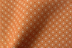 Ткань арт. 0102797 терракотовая мелкий ромб