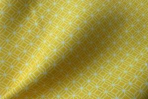Ткань арт. 0102897 желтая мелкий ромб