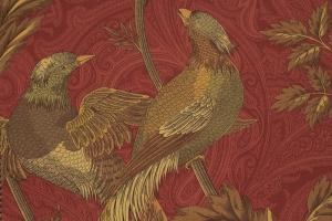 Портьерная ткань Pheasant Hunt col. Garnet