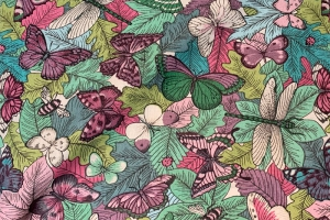 Ткань Botanist Carmine